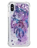 abordables -Coque Pour Apple iPhone X iPhone 8 Antichoc Liquide Motif Coque Arrière Attrapeur de rêves Flexible TPU pour iPhone X iPhone 8 Plus
