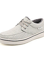 cheap -Men's Shoes Canvas Winter Fall Fluff Lining Comfort Sneakers for Casual Office & Career Gray Black