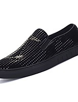 cheap -Men's Shoes PU Spring Fall Comfort Loafers & Slip-Ons for Casual Black/Silver Black/Gold