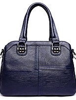 cheap -Women Bags PU Polyester Tote Zipper for Casual All Season Wine Purple Gray Black Blue