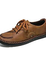 cheap -Men's Shoes Cowhide Spring Summer Comfort Sneakers for Casual Brown Dark Brown