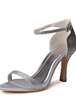 cheap -Women's Shoes Paillette Spring Summer Basic Pump Wedding Shoes Stiletto Heel Peep Toe Sequin Buckle for Wedding Party & Evening Silver