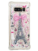 cheap -Case For Samsung Galaxy Note 8 Shockproof Flowing Liquid Pattern Back Cover Eiffel Tower Soft TPU for Note 8