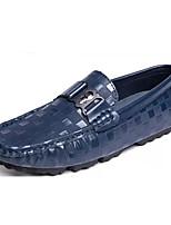 Недорогие -обувь Кожа Наппа Leather Весна Осень Мокасины Удобная обувь Мокасины и Свитер для Повседневные Белый Черный Синий