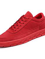 Недорогие -Муж. обувь Полиуретан Осень Удобная обувь Мокасины и Свитер для Повседневные Черный Серый Красный Хаки