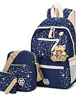 cheap -Women Bags Canvas Bag Set 3 Pcs Purse Set Zipper for Casual Outdoor All Season Purple Dark Blue Blushing Pink Black White