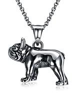 Недорогие -Муж. Собаки европейский Готика Ожерелья с подвесками , Нержавеющая сталь Ожерелья с подвесками , Официальные Бар