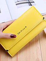 cheap -Women's Bags PU Wallet Pattern / Print for Shopping Casual All Seasons Red Blushing Pink Dark Blue Yellow Sky Blue