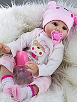 "cheap -22"" Doll Girl Doll Reborn Baby Doll Toys People Handmade Child Safe Newborn Parent-Child Interaction lifelike New Design Silicone Vinyl"