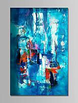 preiswerte -Handgemalte Abstrakt Vertikal,Zeitgenössisch Einfach Modern Leinwand Hang-Ölgemälde Haus Dekoration Ein Panel