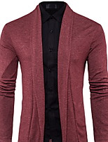 cheap -Men's Daily Print Stand Cardigan, Long Sleeves Spring Polyester