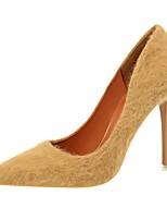Недорогие -Для женщин Обувь Дерматин Весна Осень Удобная обувь Обувь на каблуках На шпильке Заостренный носок для Для вечеринки / ужина Черный Серый