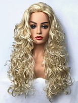 cheap -Women's  Synthetic Wigs Blonde Long Curly Hair Capless Natural Wigs Cosplay wig