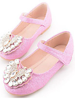 cheap -Girls' Shoes PU Spring Fall Comfort Flower Girl Shoes Flats for Casual Pink Silver