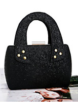 cheap -Women Bags PU Evening Bag Sequins Zipper for Casual All Season Black White Champagne
