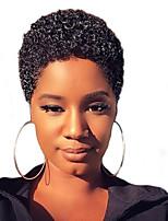 economico -MAYSU Donna Parrucche sintetiche Pantaloncini Riccio Ricci Jheri Nero Naturale Parrucca riccia stile afro Parrucca naturale Parrucca per