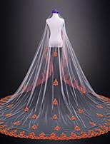 Недорогие -Один слой Свадьба Свадебные вуали Фата для венчания С Кружева Тюль