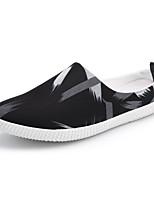 Недорогие -Муж. обувь Ткань Весна Осень Удобная обувь Тапочки и Шлепанцы для Повседневные Черно-белый Черный/Красный Черный / синий