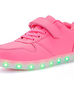 cheap -Girls' Shoes PU Spring Fall Comfort Sneakers for Casual Pink Blue Red Black White