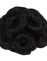 Недорогие -Темное вино Темно-коричневый / темно-рыжий Клубничный Светлый / Средний Auburn Черный Темно-коричневый / Medium Auburn Булочка для волос