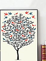 cheap -Cartoon Illustration Wall Art,Plastic Material With Frame For Home Decoration Frame Art Living Room