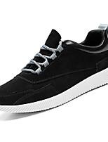 Недорогие -Муж. обувь Резина Весна Осень Удобная обувь Кеды для на открытом воздухе Черный Серый