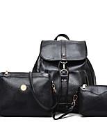 cheap -Women Bags PU Bag Set 3 Pcs Purse Set Zipper for Casual All Season Red Black White Blue