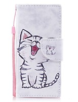 cheap -Case For Sony Xperia XZ1 Xperia XZ1 Compact Card Holder Wallet with Stand Flip Magnetic Pattern Full Body Cat Hard PU Leather for Xperia