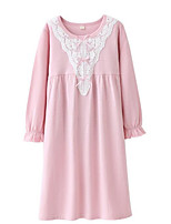 cheap -Girl's Solid Dress Long Sleeve Street chic Lavender Blushing Pink Blue