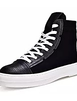 cheap -Men's Shoes PU Spring Fall Comfort Sneakers for Casual Black/White White