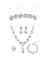 abordables -Mujer Coronas Los sistemas nupciales de la joyería Cristal Europeo Moda Boda Fiesta Diamante Sintético Legierung Joyería de Cuerpo 1
