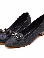 preiswerte -Damen Schuhe PU Frühling Herbst Komfort High Heels Blockabsatz für Normal Gold Schwarz
