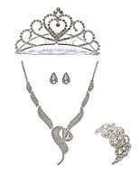 preiswerte -Damen Tiara Braut-Schmuck-Sets Strass Diamantimitate Aleación Geometrische Form Fuchs Modisch Europäisch Hochzeit Party Körperschmuck 1