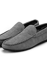 cheap -Men's Shoes PU Spring Fall Moccasin Loafers & Slip-Ons for Casual Red Gray Black