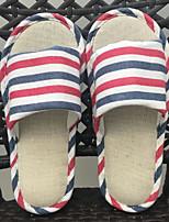 cheap -Women's Unisex Shoes Linen Spring Fall Comfort Slippers & Flip-Flops Low Heel for Casual Dark Blue Coffee Red Dark Red Light Blue