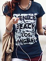 economico -T-shirt Da donna Quotidiano Casual Estate,Con stampe Rotonda Cotone Maniche corte
