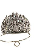 preiswerte -Damen Taschen Metall Abendtasche Kristall Verzierung für Hochzeit Veranstaltung / Fest Formal Alle Jahreszeiten Silber