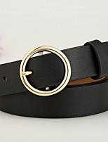 cheap -Women's Leather Waist Belt,Black Silver Camel Wine Khaki Casual