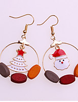 cheap -Women's Drop Earrings Fashion European Mismatch Alloy Santa Claus Circle Jewelry Christmas Daily