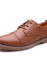 cheap -Men's Shoes Nappa Leather Spring Fall Comfort Oxfords for Casual Office & Career Black Light Brown Khaki