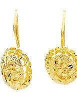 cheap -Women's Drop Earrings Hoop Earrings Sweet Fashion Elegant Gold Plated Geometric Jewelry Wedding Party