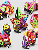 preiswerte -Magnetische Bauklötze Spielzeuge Auto Mode Transformierbar Weicher Kunststoff 64 Stücke