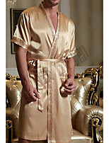 abordables -Costumes Pyjamas Homme,Couleur Pleine Moyen Polyester Or Gris Vin
