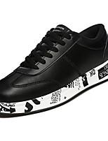 Недорогие -Для мужчин обувь Полиуретан Весна Осень Удобная обувь Кеды для Повседневные Белый Черный Красный