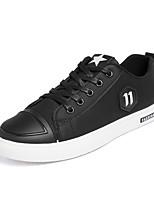 Недорогие -Муж. обувь Полиуретан Весна Осень Удобная обувь Кеды для на открытом воздухе Черный Красный