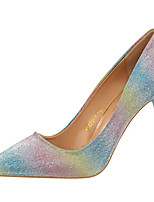 cheap -Women's Shoes Synthetic Spring Fall Gladiator Basic Pump Heels Stiletto Heel Pointed Toe for Party & Evening Dress Pink Rainbow Silver