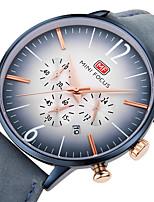 Недорогие -Муж. Повседневные часы Наручные часы Японский Кварцевый Хронометр Повседневные часы Натуральная кожа Группа На каждый день Cool минималист