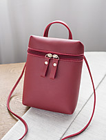 cheap -Women's Bags PU Shoulder Bag Zipper for Shopping Casual All Seasons Black Red Blushing Pink Light Grey