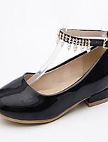 baratos -Mulheres Sapatos Courino Primavera Outono Conforto Inovador Rasos Sem Salto Ponta Redonda Pérolas Sintéticas para Casual Social Branco