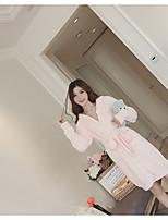 cheap -Women's Babydoll & Slips Pajamas,Solid Cotton Blushing Pink White